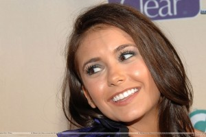 Nina Dobrev Smiling Face Closeup in Show