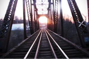 Photo Of A Train Bridge