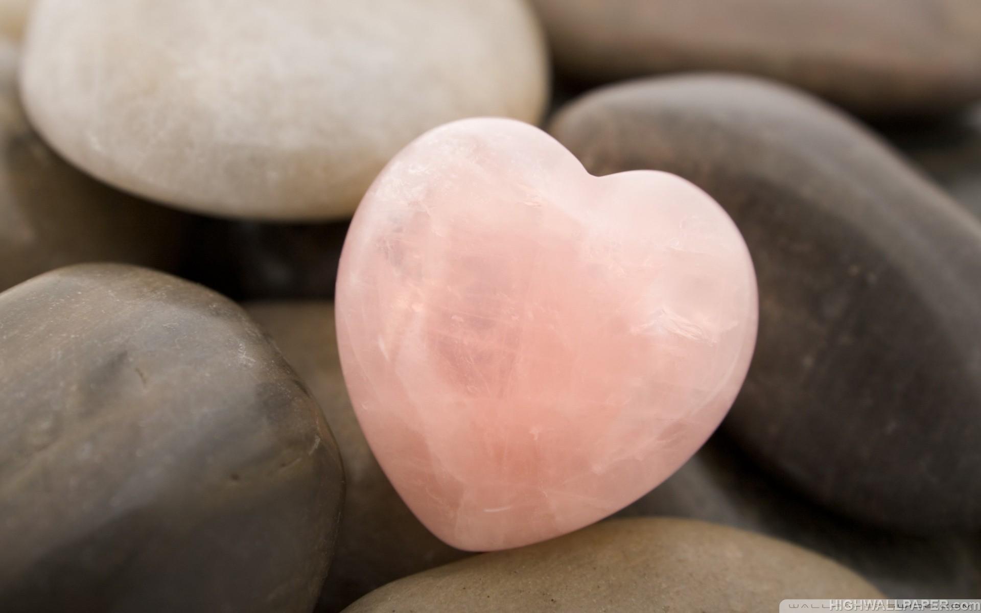 Pink Stone Heart