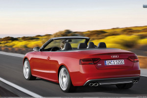 Red 2012 Audi S5 Cabriolet on Highway