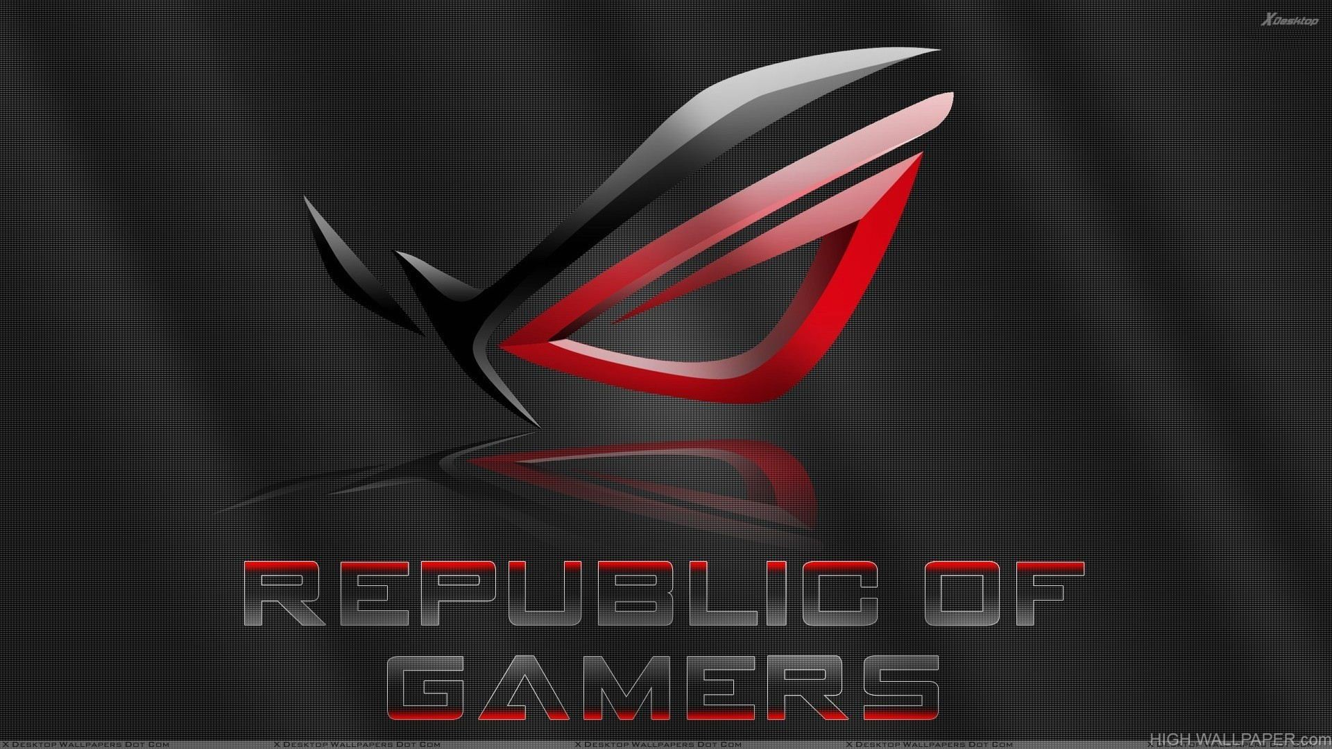 Republic Of Gamers And Black Background