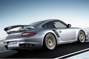 Running Fast 2011 Porsche 911 GT2 RS In Silver