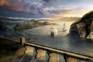 Sea and Bridge Fantasy
