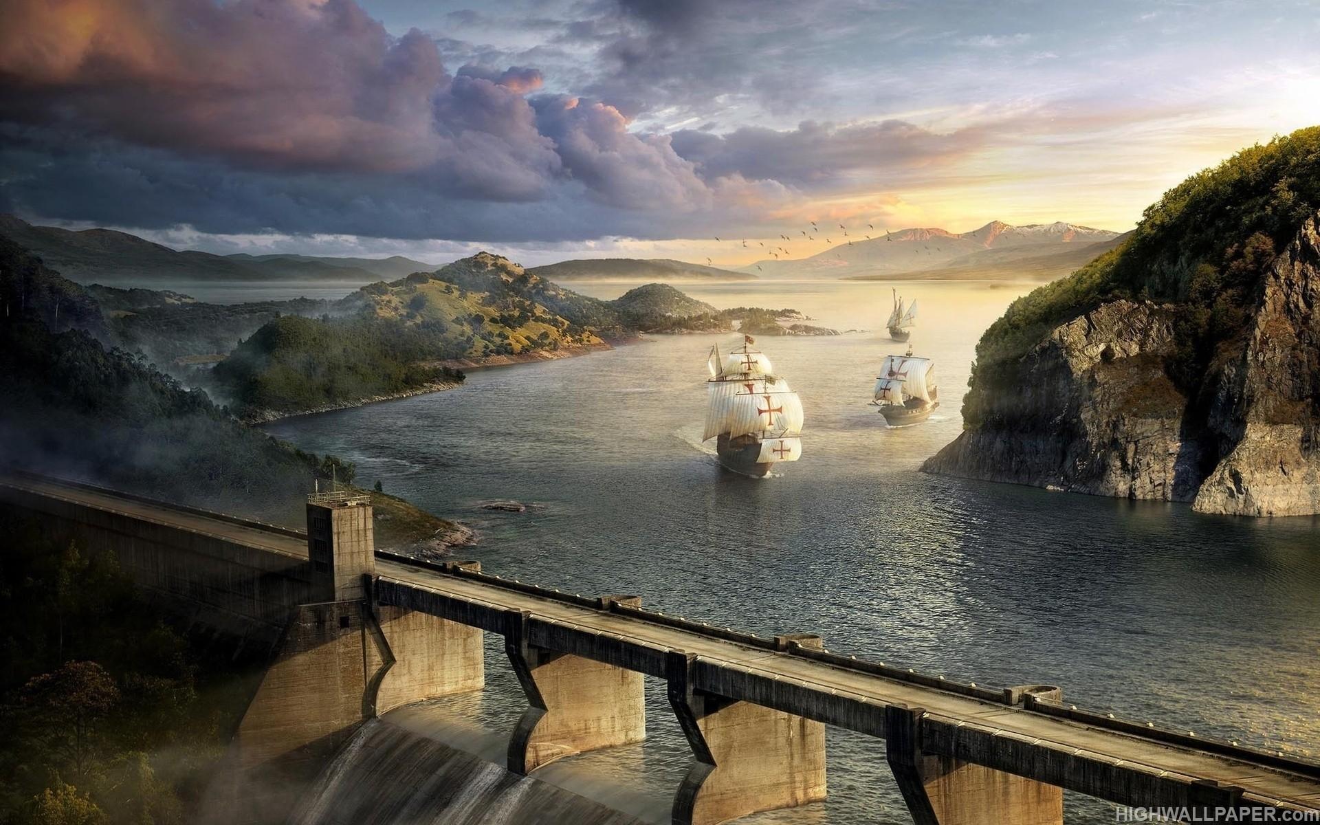 Sea and Bridge Fantasy
