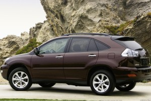 Side Pose Of 2009 Lexus RX 350 Near Mountains