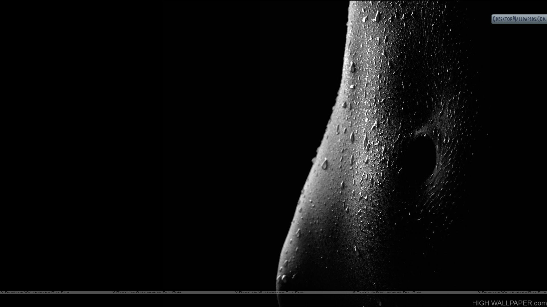 Skin With Water Drops Black n White