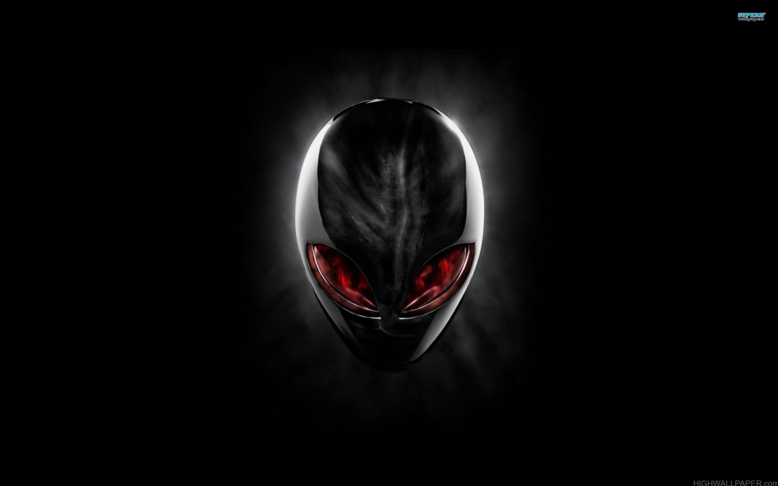 Alienware Black Skull Red Eyed