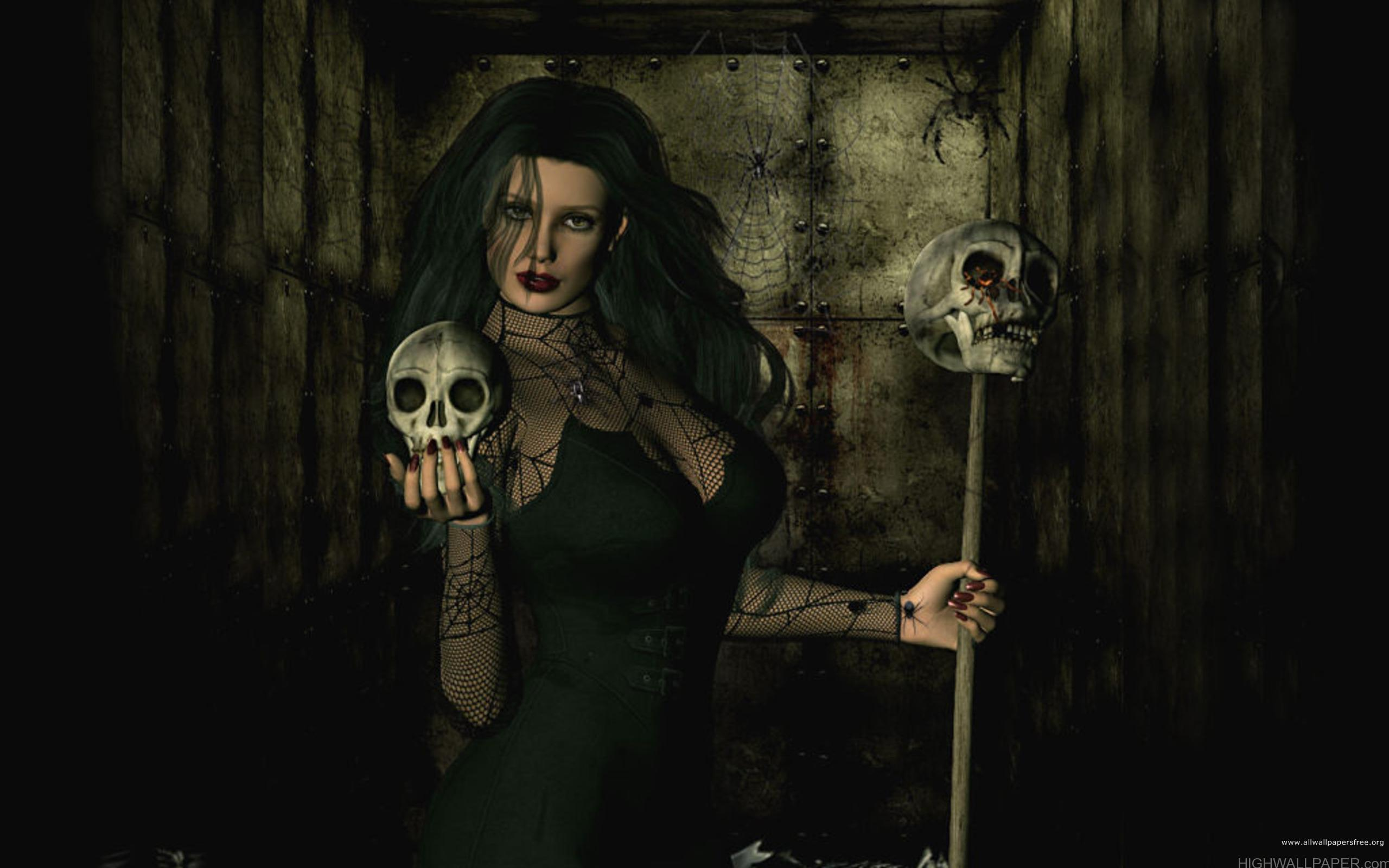Skull and Lady