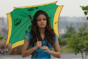 Sneha Ullal Thinking N Umbrella In Hand Photoshoot