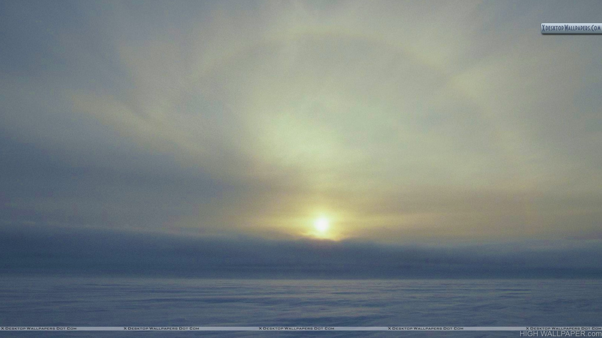Solar Ice Bow Over Water Lancaster Sound Northwest Territories Canada