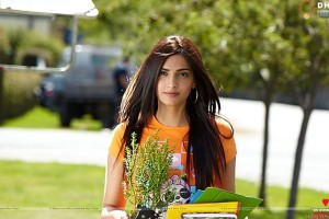 Sonam Kapoor Orange Top I Hate Luv Story Movie