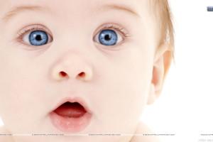 Sweet Baby Blue Eyes N Pink Lips
