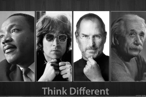 Think Different Black And White