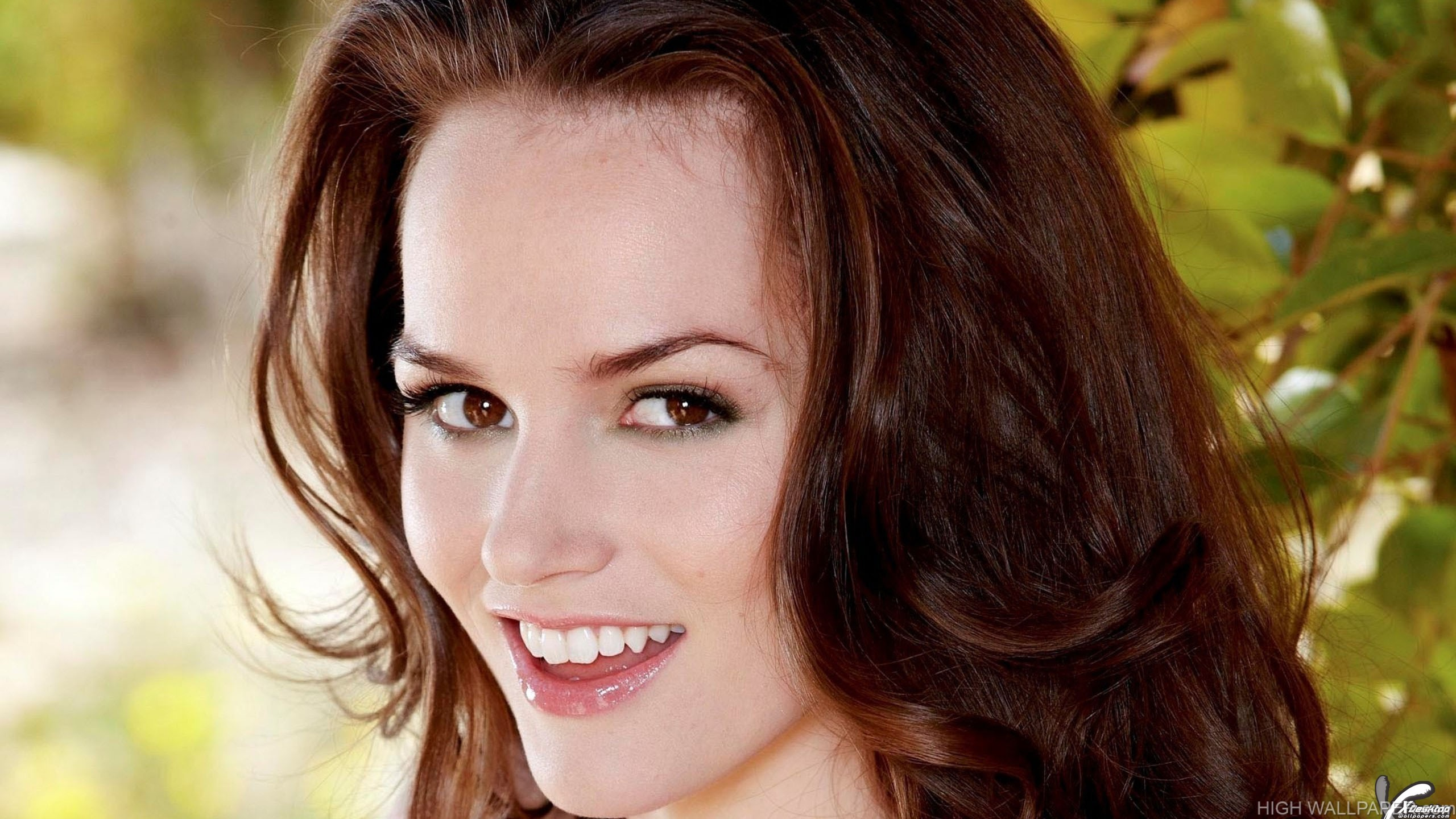 Tori Black Face Closeup Smiling Open Mouth