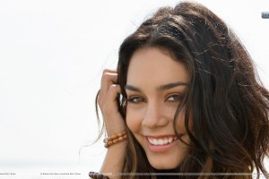 Vanessa Hudgens Pink Lips Smiling Face Closeups