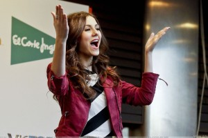 Victoria Justice Open Mouth In Red Jacket At Event