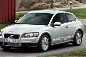 Volvo C30 In Silver Standing