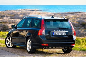 Volvo V50 Near Sea In Black