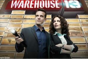 Warehouse 13   Eddie Mcclintock Torch In Hand And Joanne Kelly