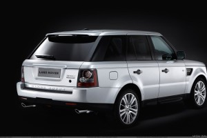 White Range Rover Sport Black Background