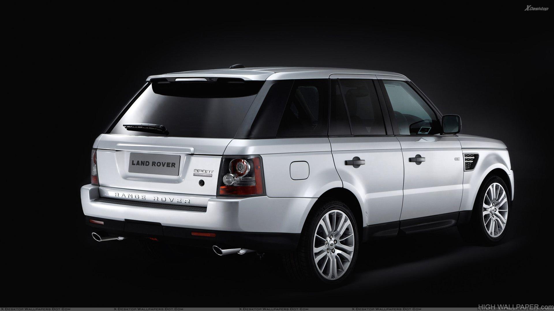 White Range Rover Sport Black Background