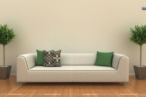 White Sofa In A Room