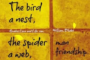 friendship quotes the bird a nest william blake