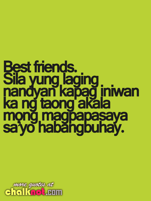 Tagalog Quotes About Friendship Images : Best friends friendship quotes hd wallpaper